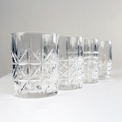 four glass tumblers from nachtmann