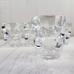 nachtmann's glass tumbler with bubbles pattern