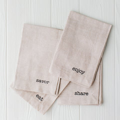 mud pie set of 3 sack napkins