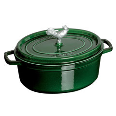 full view of staub's basil 5.75 quart coq au vin