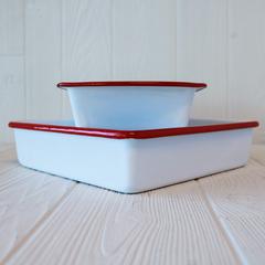 Enameled loaf and brownie pan set