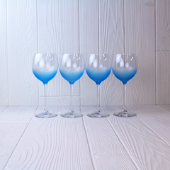 Set of four LSA Haze Wineglasses in Sky