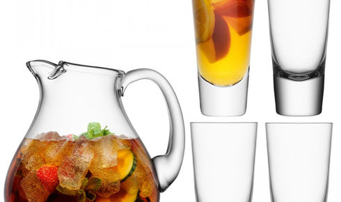 LSA Bar Punch Jug and 4 mixer glasses