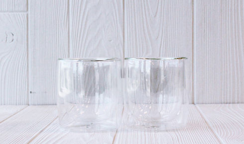 Two Sorrento Double Walled Rocks Glasses